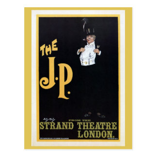 Vintage The Strand London The J.P. theatre play ad Postcard