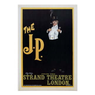 Vintage The Strand London The J.P. theatre play ad Print