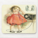 Vintage the Telephone Girl Mousepad