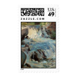 Vintage The Waterfall Postage Stamps