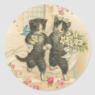 Vintage The Wedding 2 Round Sticker