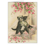 Vintage - The Wedding Cats Greeting Card