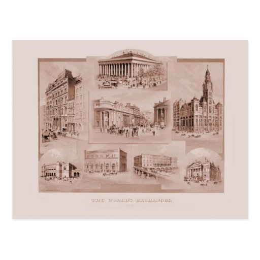 Vintage The World's Exchanges Postcard