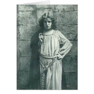 vintage theater actress notecard