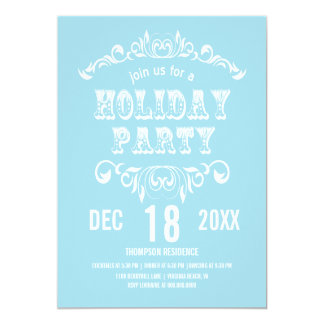 Vintage Theater Bill Holiday Party Invite-powder Card