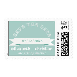 Vintage Theater Bill Save The Date Postage-seamist Postage Stamp
