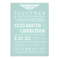Vintage Theater Bill Wedding Invitation-ice blue Invitation