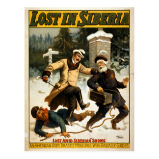 Vintage Theater Lost in Siberia Postcard