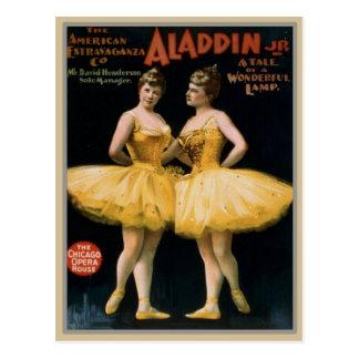 Vintage Theater Poster Postcard