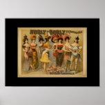 Vintage Theater Posters Hurly-Burly Vaudevillie