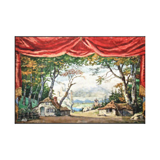 VINTAGE THEATRE BACKDROP BALLET GISELLE CANVAS