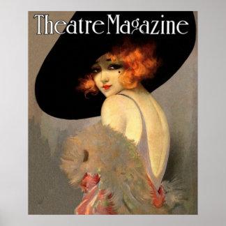 vintage theatre magazine cover poster