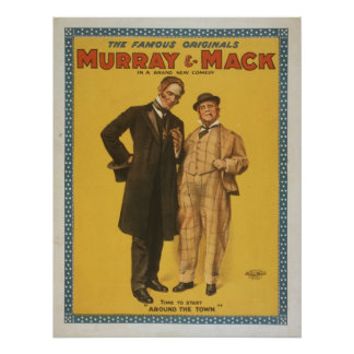 Vintage Theatrical Comedy Murray & Mack Poster