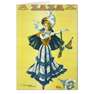 Vintage Theatrical Playbill 1899 Card