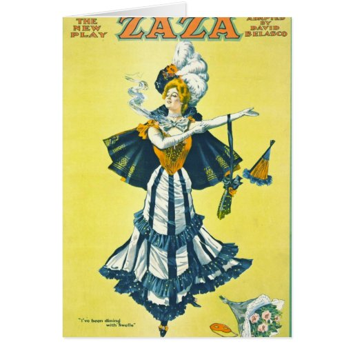 Vintage Theatrical Playbill 1899 Greeting Card