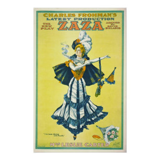 Vintage Theatrical Playbill 1899 Poster