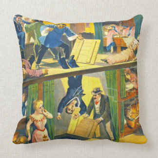 Vintage Theatrical Poster 1899 Throw Pillow