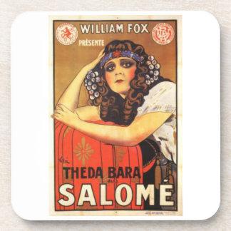 Vintage Theda Bara Salome Movie Poster Coasters