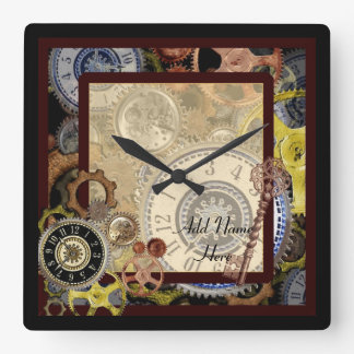 Vintage theme steampunk style kitchen wall clocks