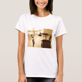 Vintage theme with antique lampshade and retro tel T-Shirt