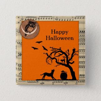 Vintage Themed Halloween Button Flair