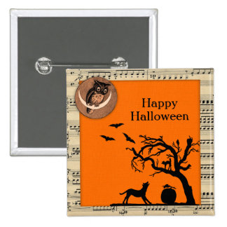 Vintage Themed Halloween Button Flair