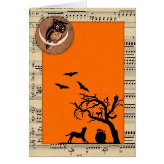 Vintage Themed Halloween Card