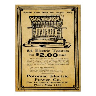 Vintage Thermax Electric Toaster Print