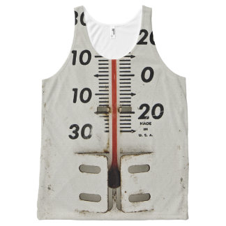 vintage thermometer All-Over-Print tank top