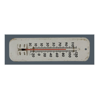 vintage thermometer poster
