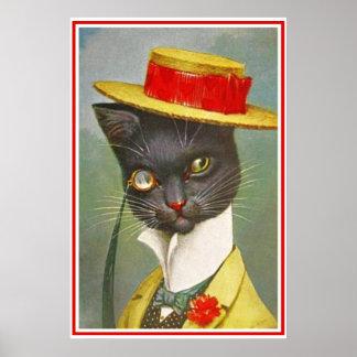 Vintage Thiele Dandy Cat Poster Print