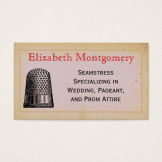 Vintage Thimble Seamstress Tailor Business Cards