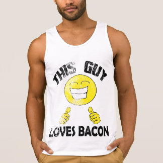 Vintage This Guy Loves Bacon Tank Top