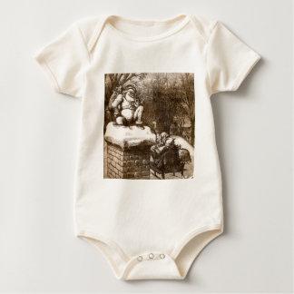 Vintage Thomas Nash Harper's Weekly 1865 Santa Baby Bodysuit