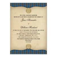 Vintage Thomson Dress Tartan Plaid Wedding Invitation