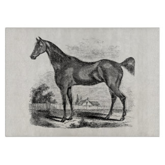 Vintage Thoroughbred Horse Equestrian Personalized Cutting Board
