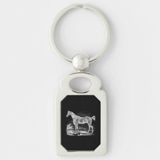 Vintage Thoroughbred Horse Equestrian Personalized Keychain