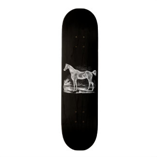 Vintage Thoroughbred Horse Equestrian Personalized Skateboard Deck