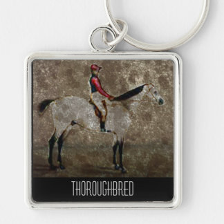 Vintage Thoroughbred Race Horse Keychain