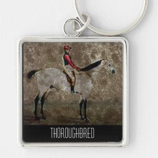 Vintage Thoroughbred Race Horse Keychain