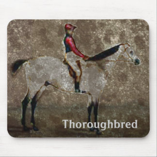 Vintage Thoroughbred Race Horse Mouse Pad