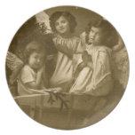 Vintage three angels Plate