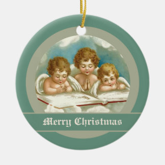 Vintage three cute praying angels ornaments