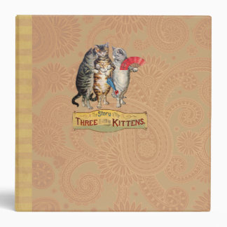 Vintage Three Little Kittens Lost Mittens 3 Ring Binder