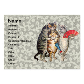 Vintage Three Little Kittens Lost Mittens Business Card Templates