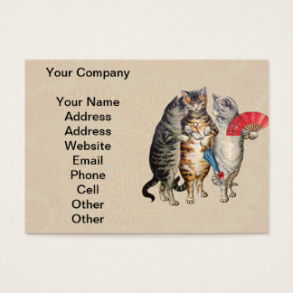 Vintage Three Little Kittens Lost Mittens Business Card