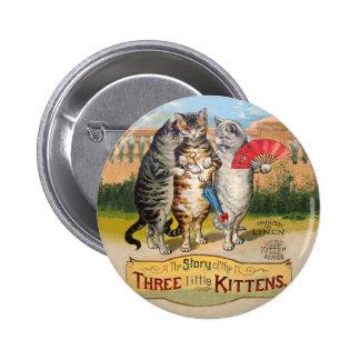 Vintage Three Little Kittens Lost Mittens Pins