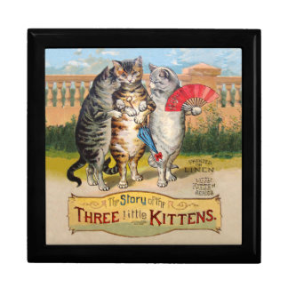 Vintage Three Little Kittens Lost Mittens Gift Box