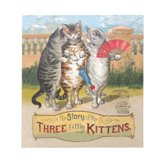 Vintage Three Little Kittens Lost Mittens Memo Notepad