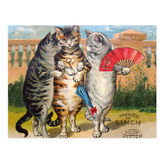 Vintage Three Little Kittens Lost Mittens Postcard